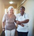 nurse comforting her patient